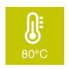 Aufgusstemperatur: 80°C
